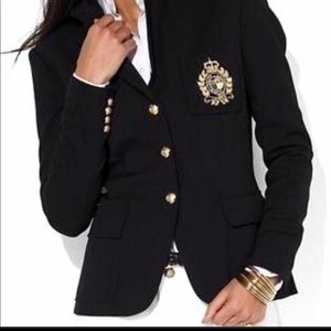 Ralph Lauren Cotton Crested Blazer